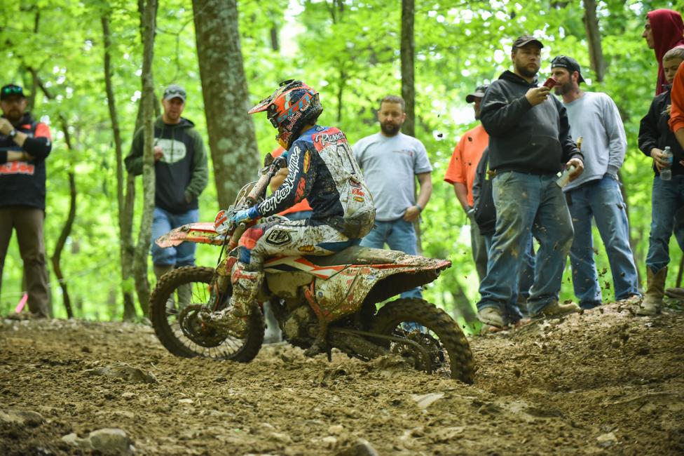 Kailub Russell made it four-in-a-row with the Limestone 100 GNCC victory.Photo: Ken Hill