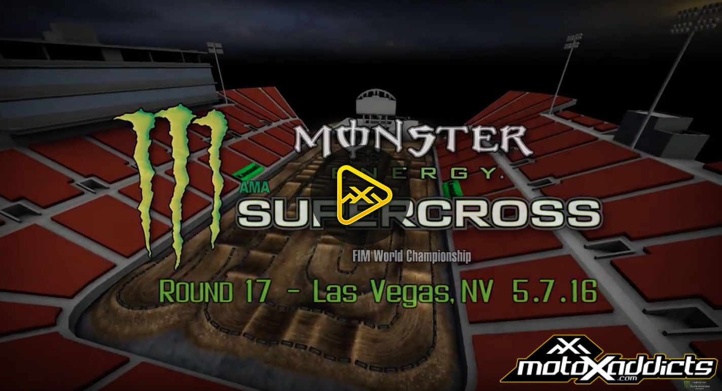 2016 Las Vegas Supercross Finale Animated Track Map