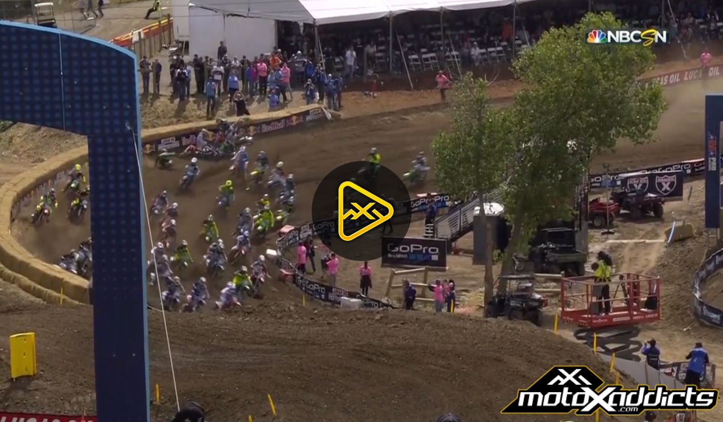 250MX Moto 2 Pile Up at 2016 Hangtown National – Red Flag