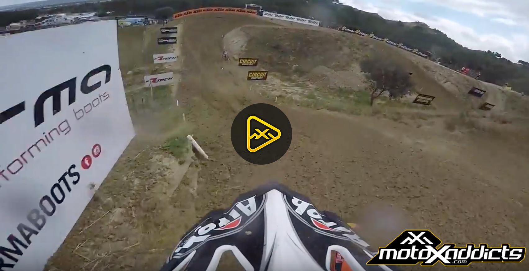 Helmet Cam: Glenn Coldenhoff Lap Around 2016 MXGP of Spain