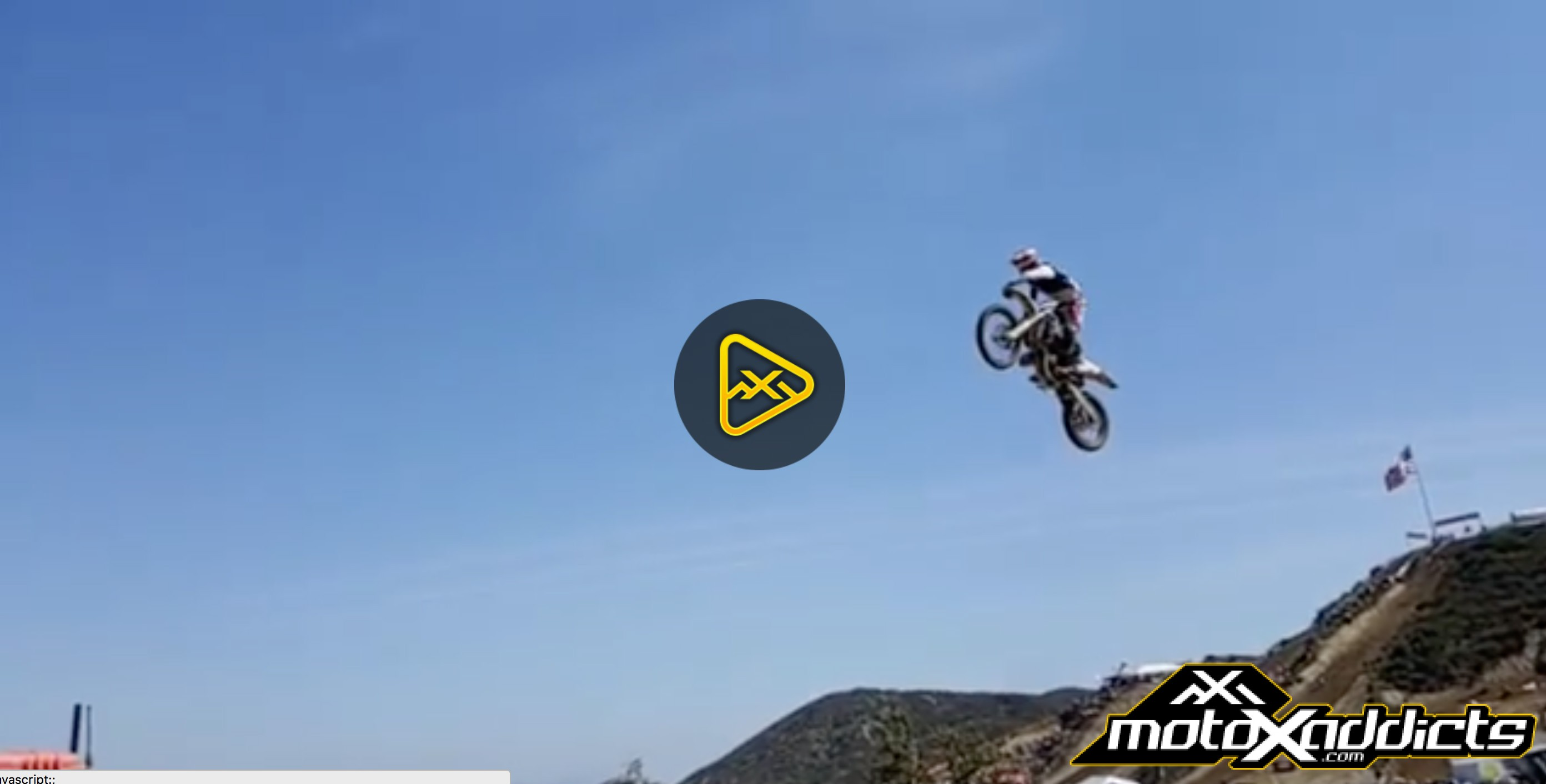 Gared Steinke Airing Out Glen Helen Triple Step Up on the 125