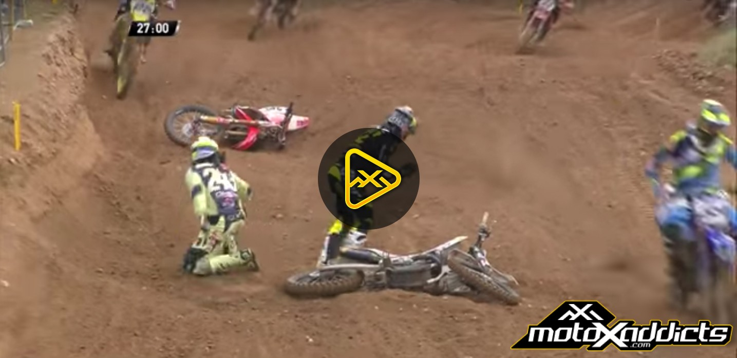 Tim Gasjer and Max Nagl Crash – 2016 MXGP of Latvia