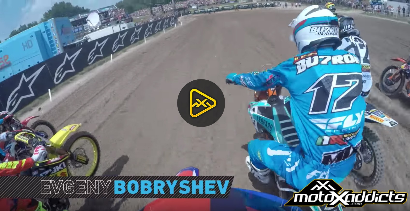 Helmet Cam: Evgeny Bobryshev at 2016 MXGP of Lombardia-Italy