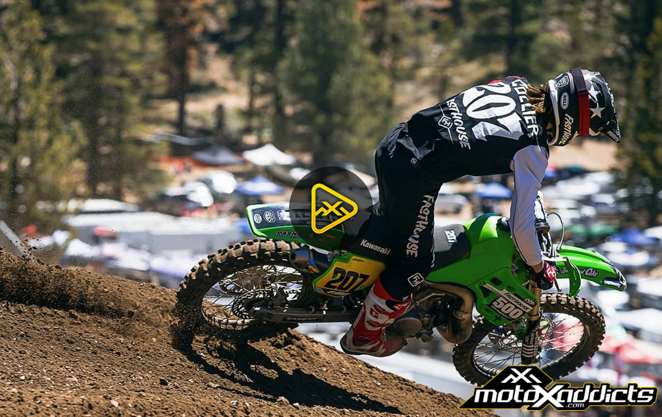 "Helmet Cam: Sean Collier on ""The Beast"" (KX500) at Mammoth"