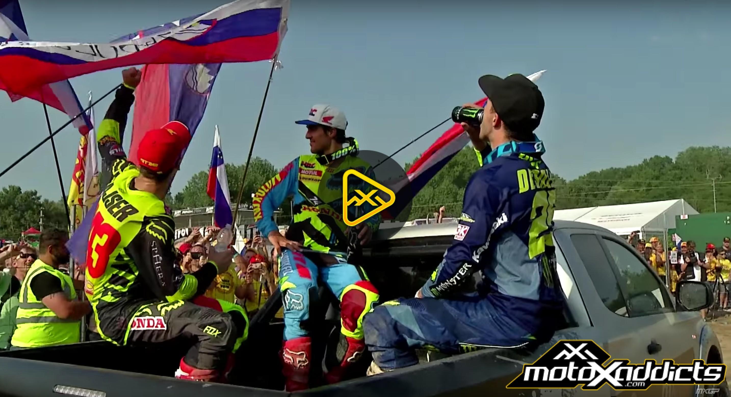2016 MXGP of Lombardia-Italy Podium Chaos