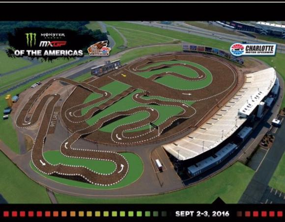 Track Design Released for 2016 Monster Energy MXGP of the Americas in Charlotte