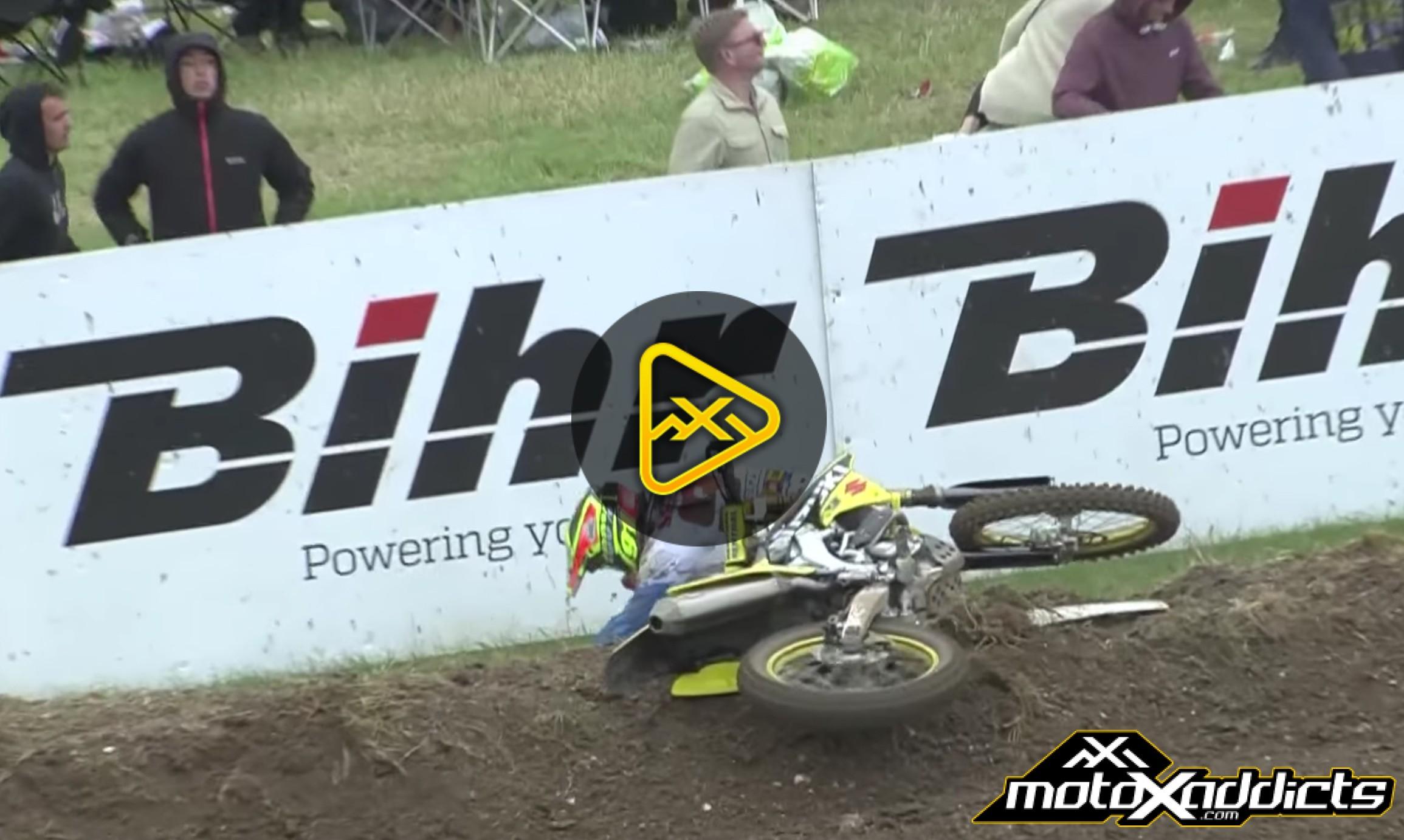 Jeremy Seewer Crash – 2016 MXGP of Great Britain