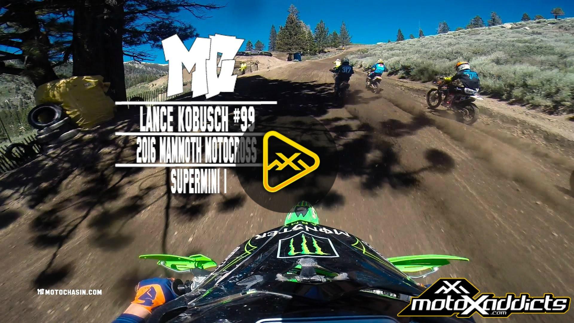 Helmet Cam: Lance Kobusch Pushes his Supermini at Mammoth MX