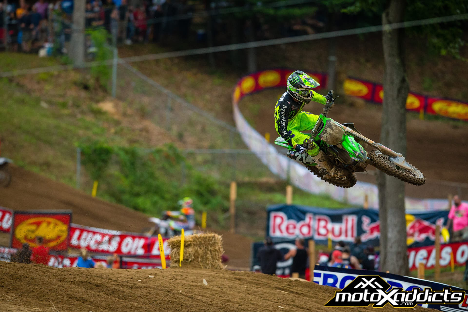 Austin Forkner only clocked the 7th fastest lap time in the motos, but the #214 was the fastest overall qualifier and used that to score two good starts and his first-ever podium.