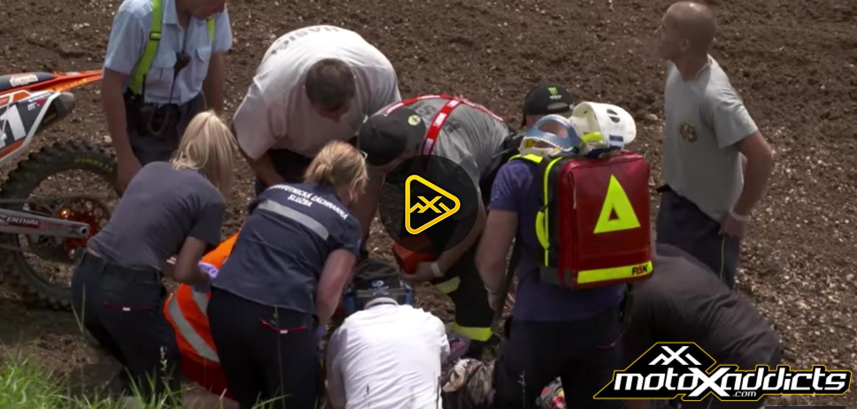 Pauls Jonass' Gnarly Crash – 2016 MXGP of Czech Republic