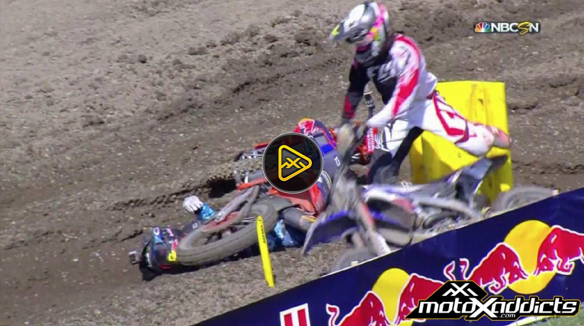 VIDEO: Cody Williams Pulling Bike Off Of Jessy Nelson at Unadilla