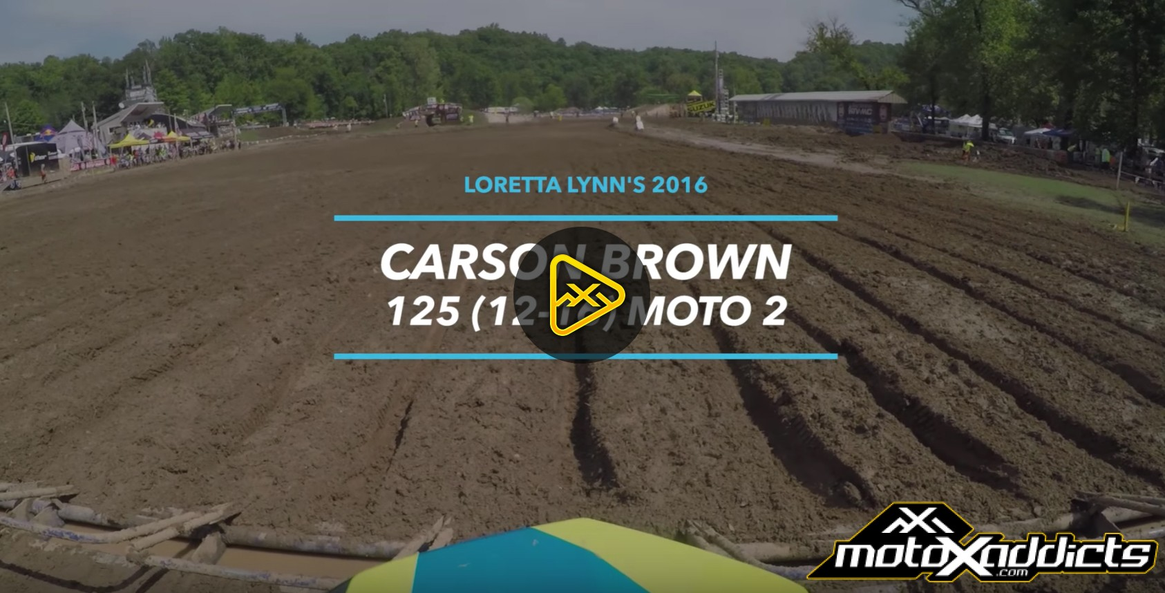 Helmet Cam: Carson Brown – 125 (12-16) at Loretta Lynn's
