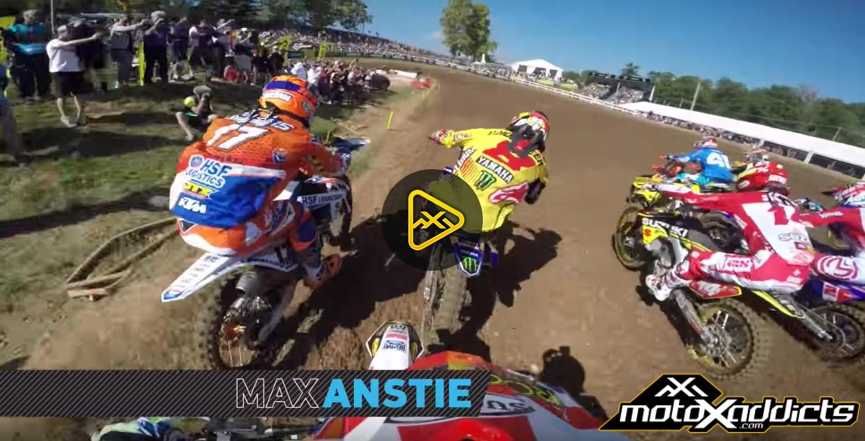 Helmet Cam: Max Anstie at 2016 MXoN
