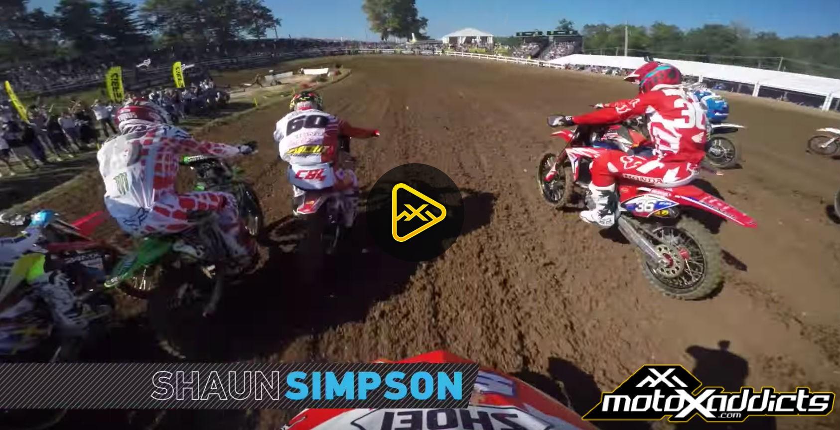 Helmet Cam: Shaun Simpson at 2016 MXoN
