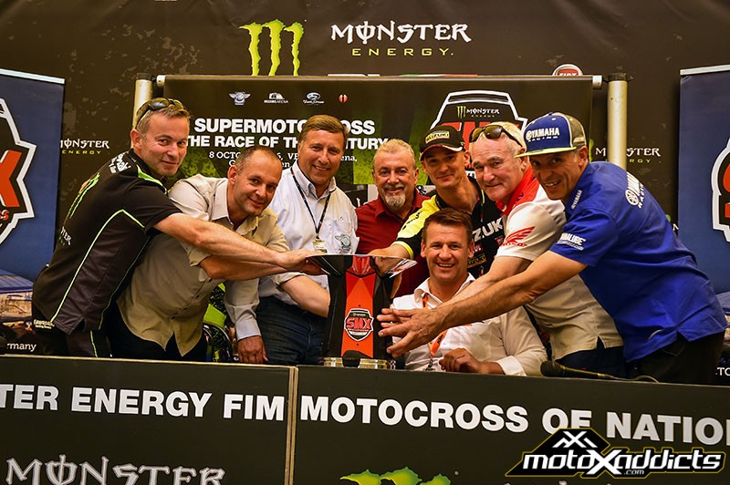Unveiling of the Monster Energy SMX Riders' Cup trophy in Maggiora