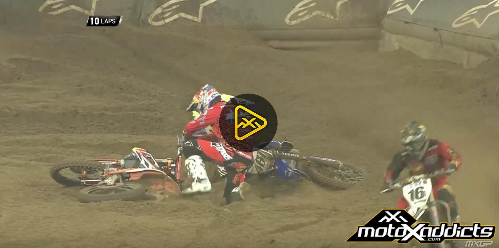 Jeffrey Herlings & Romain Febvre Crash – 2016 SMX Riders Cup