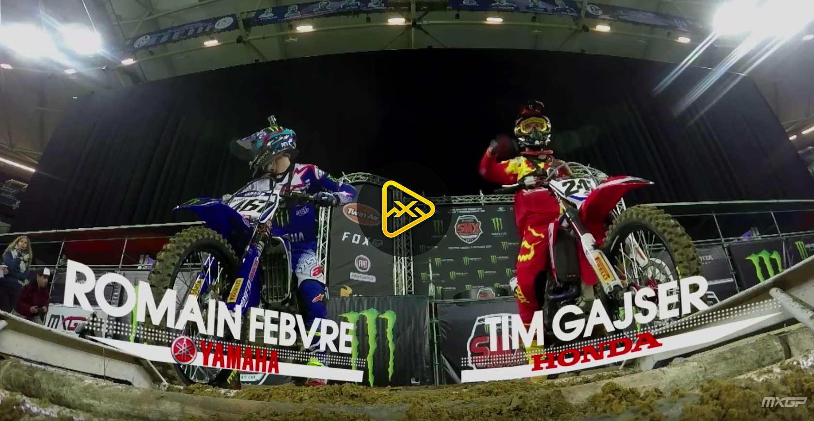 Helmet Cam: Gasjer & Febvre Take Lap at 2016 SMX Riders Cup