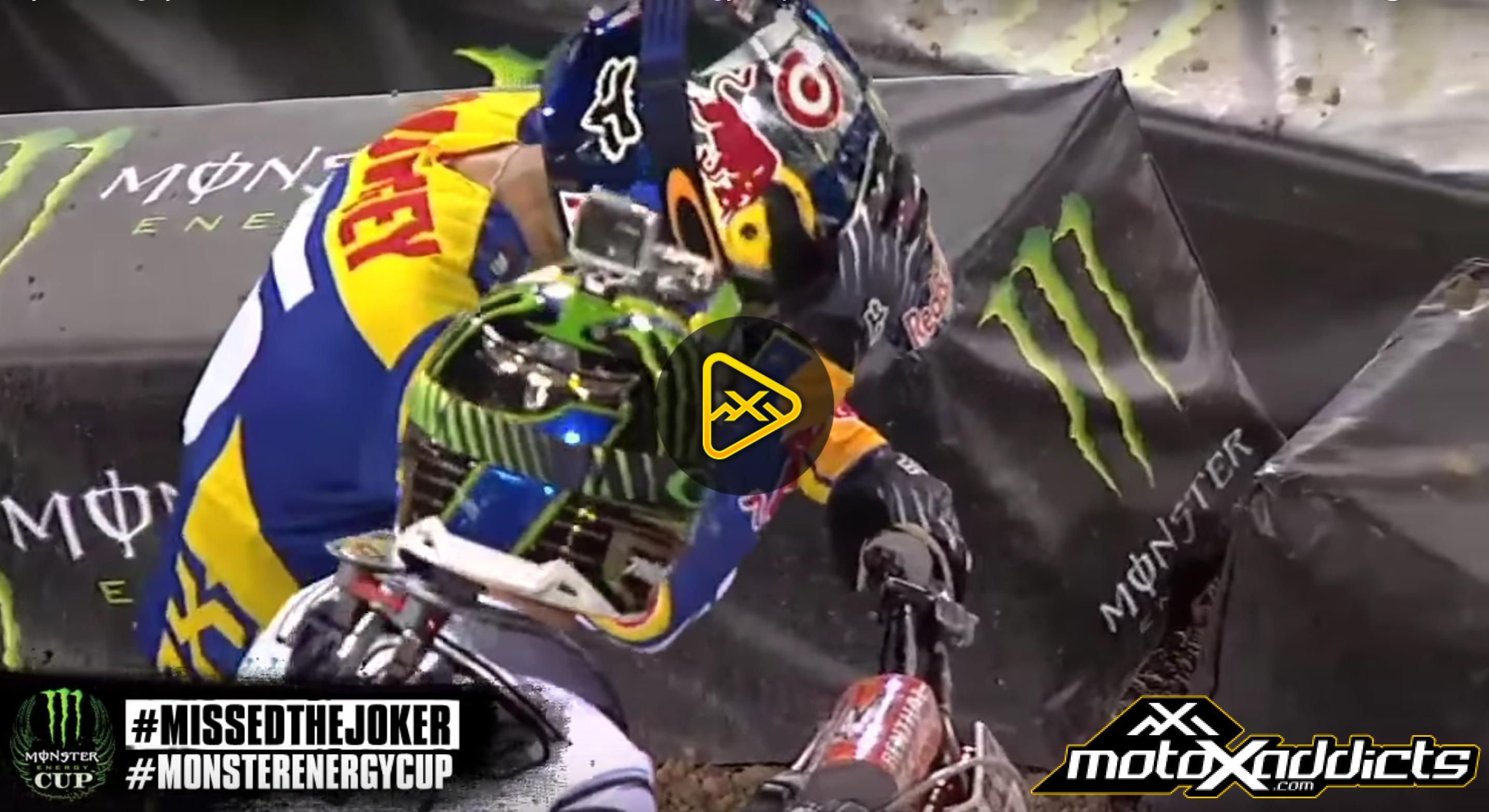 Flashback: Ryan Dungey Misses Joker Lane At 2013 Monster Cup
