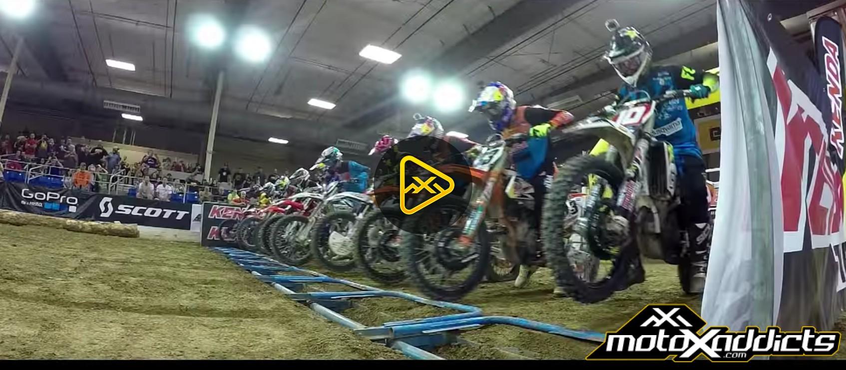 Helmet Cam: Taylor Robert Shreds Hometown Endurcross Race