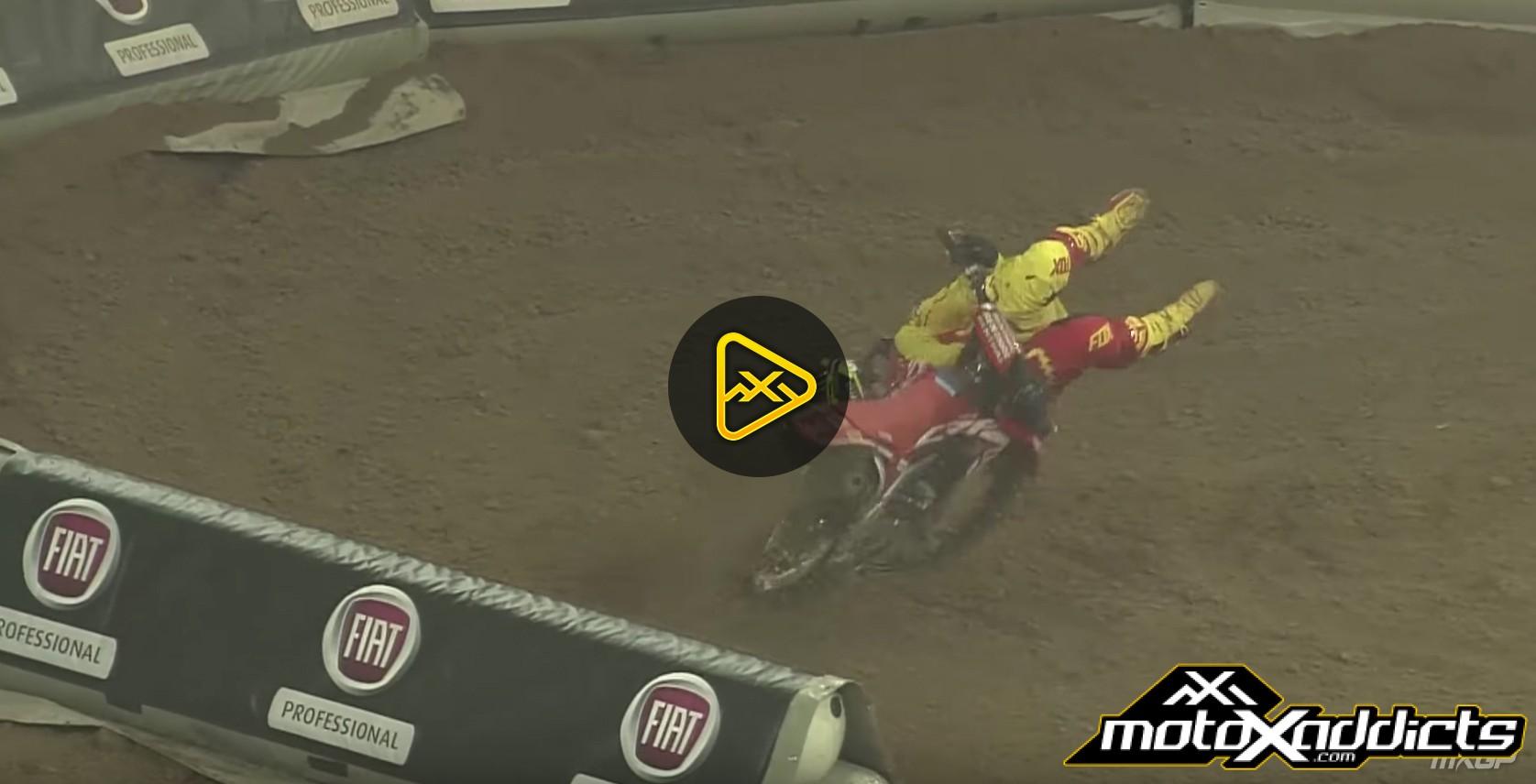 Tim Gasjer Crash – 2016 SMX Riders Cup