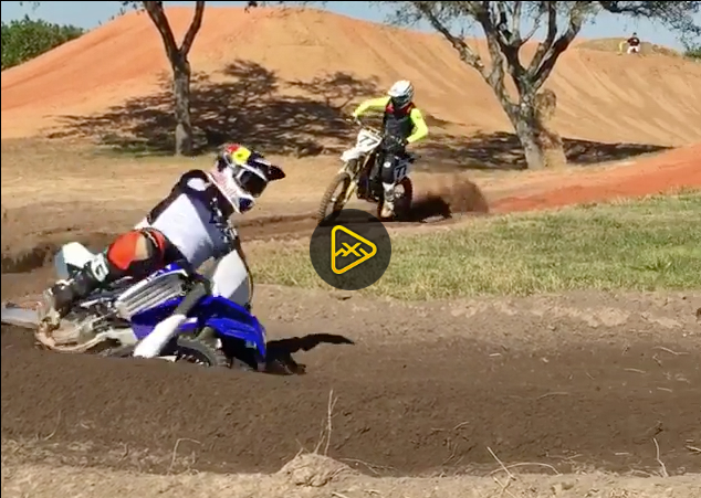 Video of James Stewart and Malcolm Stewart on Yamahas