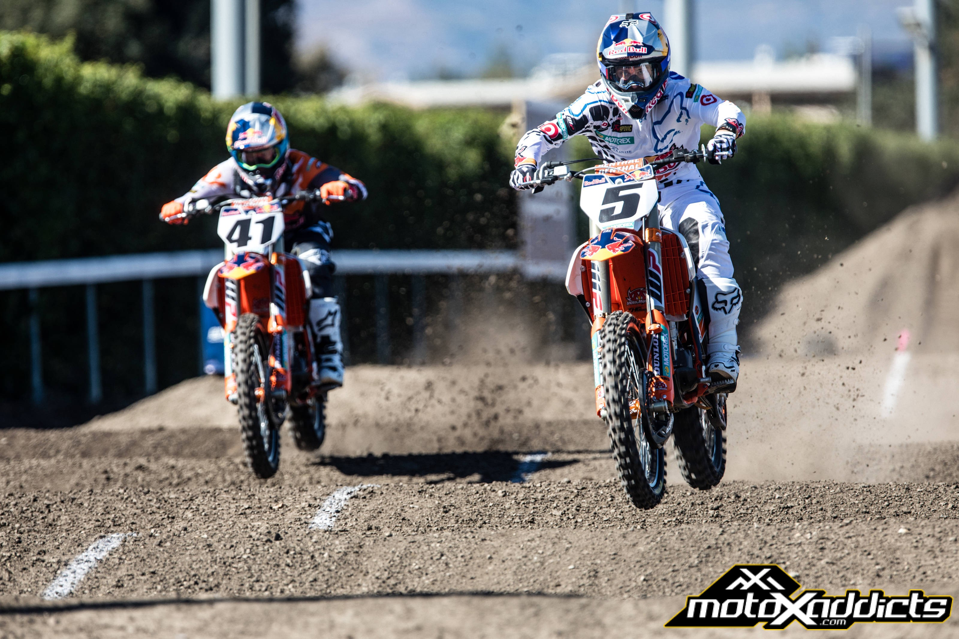 #41 Trey Canard made his KTM debut at the 2016 Red Bull Straight Rhythm. Trey finished 4th overall in his debut. Photo by: Red Bull Content Pool