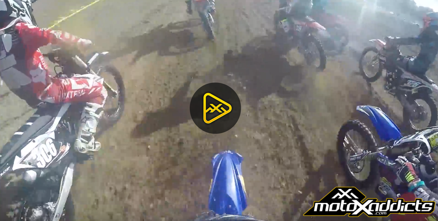 Helmet Cam: 125 Consolation Race Carnage at Mini O's 2016