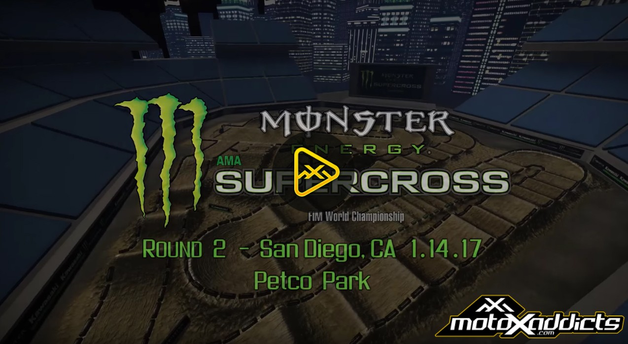 2017 San Diego SX Animated Track Map