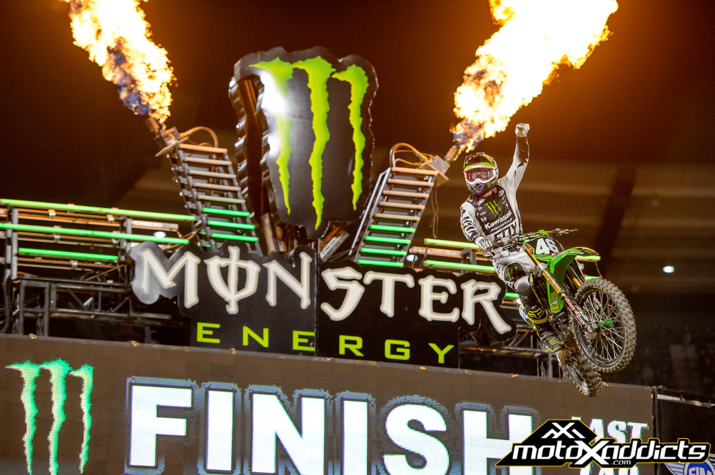 Monster Energy Kawasaki Gets Win at Anaheim 2 SX