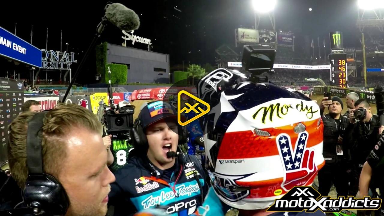 Helmet Cam: Shane McElrath – 2017 San Diego SX Main Event