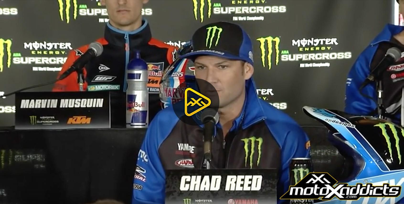 2017 Anaheim SX – Chad Reed talks about James Stewart