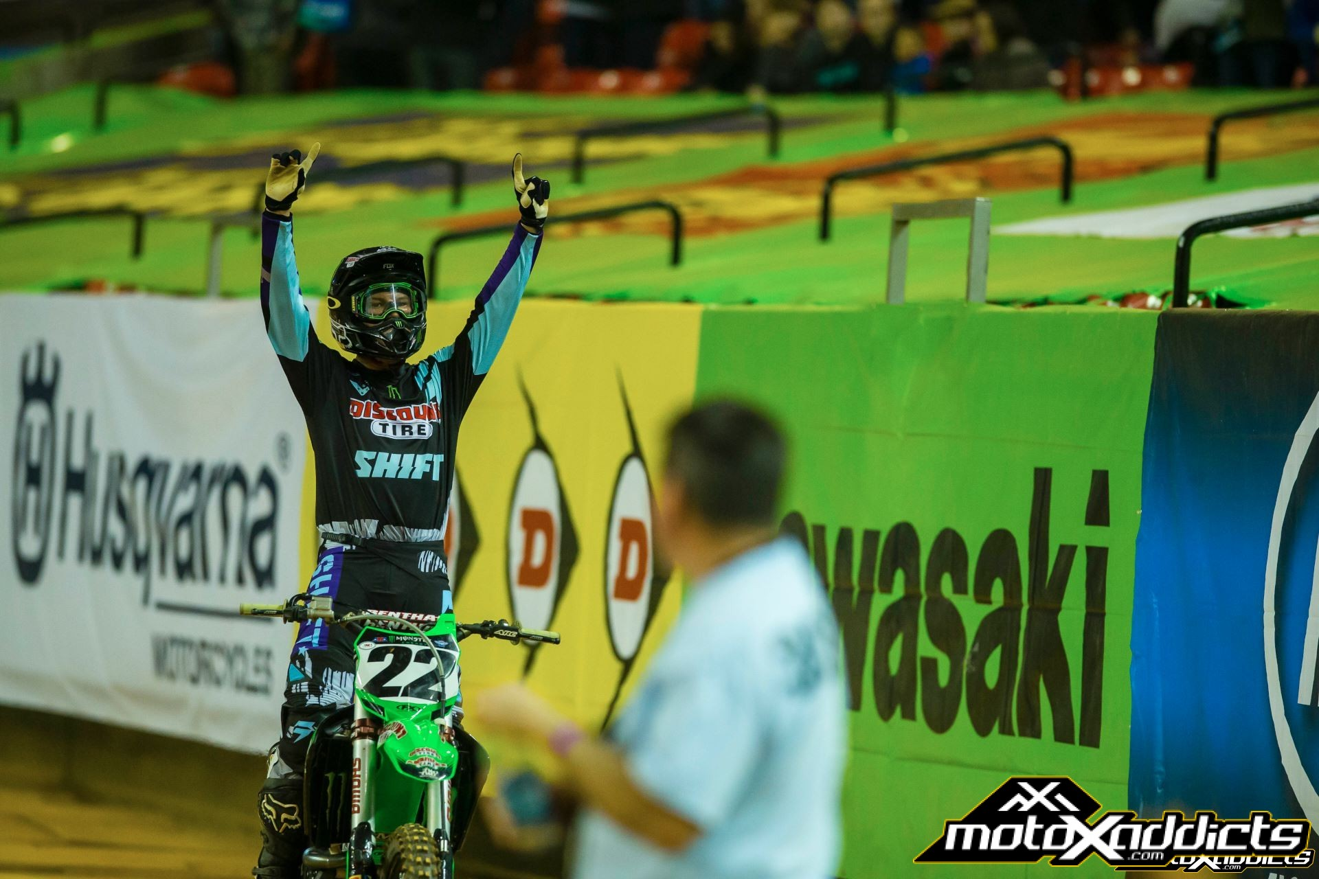 Chad Reed's last win came at the 2015 Atlanta SX. With that win, he became the second oldest rider to win a premier class main event. Photo by: Hoppenworld