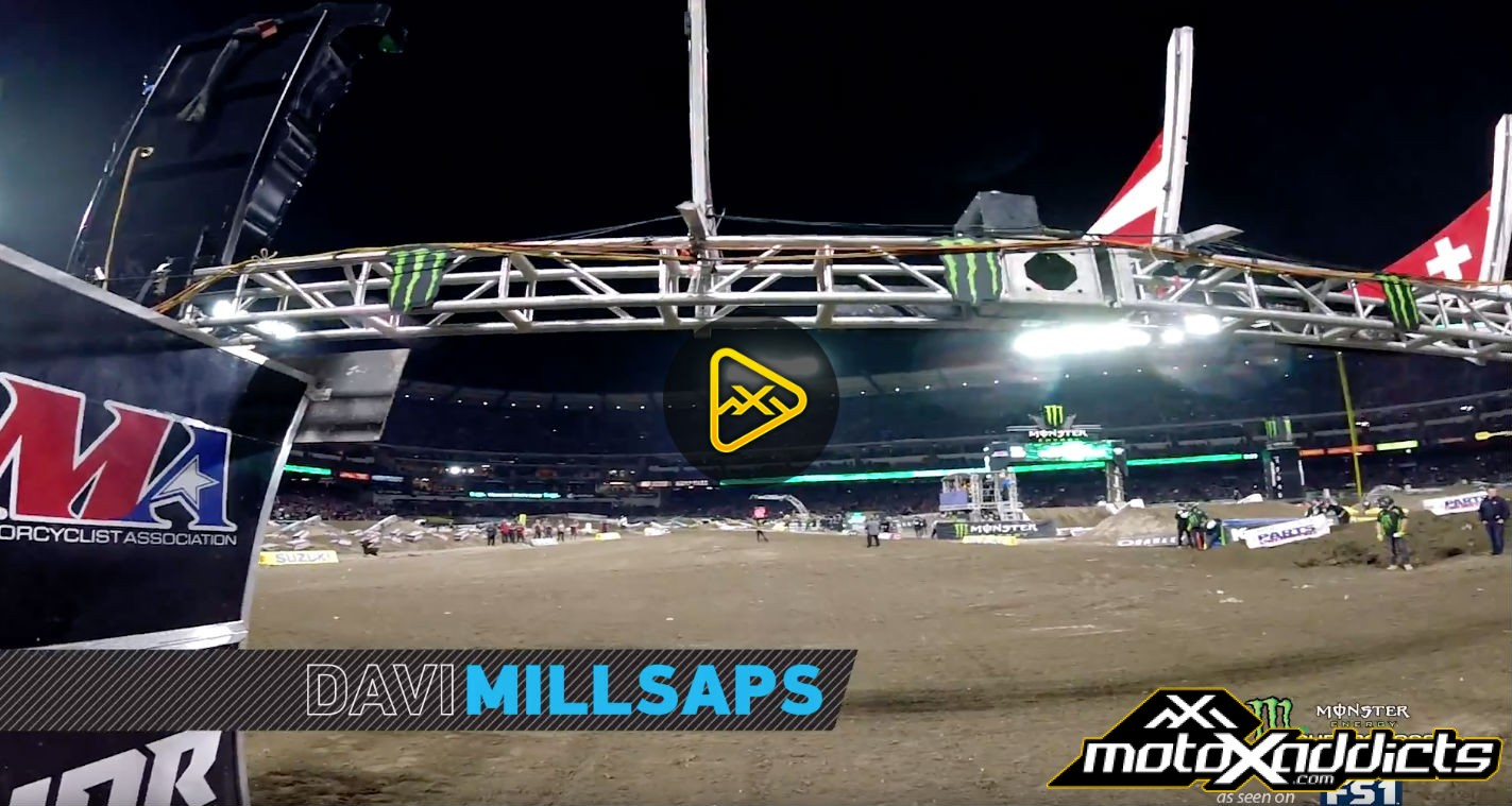 Helmet Cam: Davi Millsaps – 2017 Anaheim SX