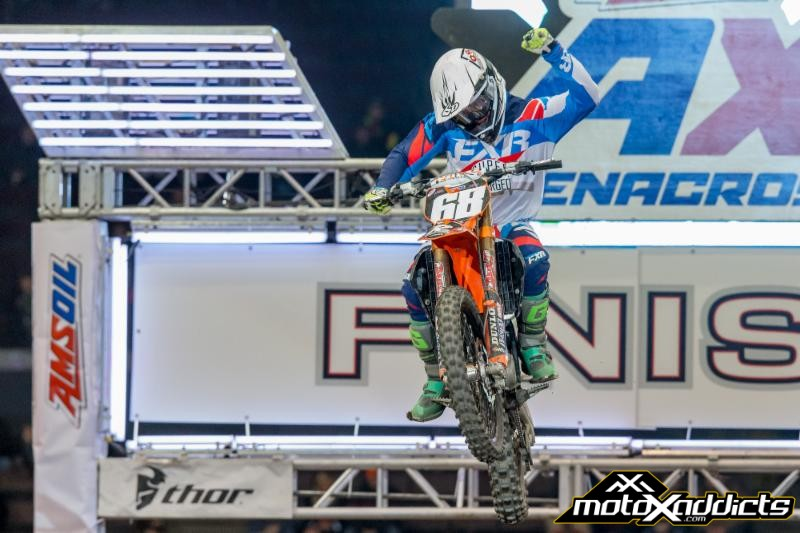 Harrison grabbed the AX Lites Class win. Photo: ShiftOne Photography