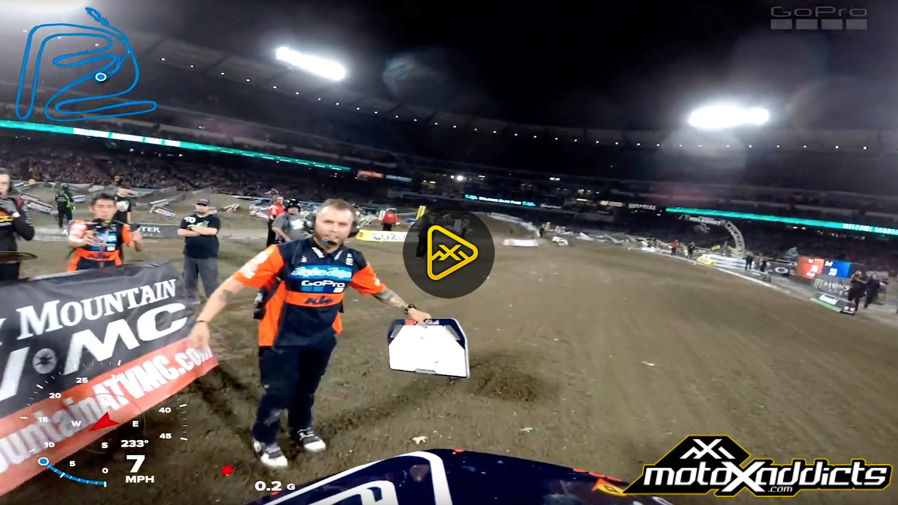 Helmet Cam: Shane McElrath's with GPS Tech – 2017 Anaheim SX
