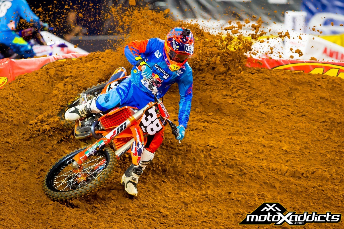 Shane McElrath did what he needed to do in Arlington, but his KTM did not cooperate. Photo by: Simon Cudby