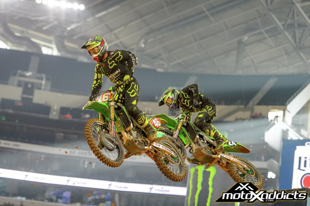 Justin Hill (46) and Austin Forkner (24) finished 1-2 in their heat race and in the main event. Photo by: Ryne Swanberg
