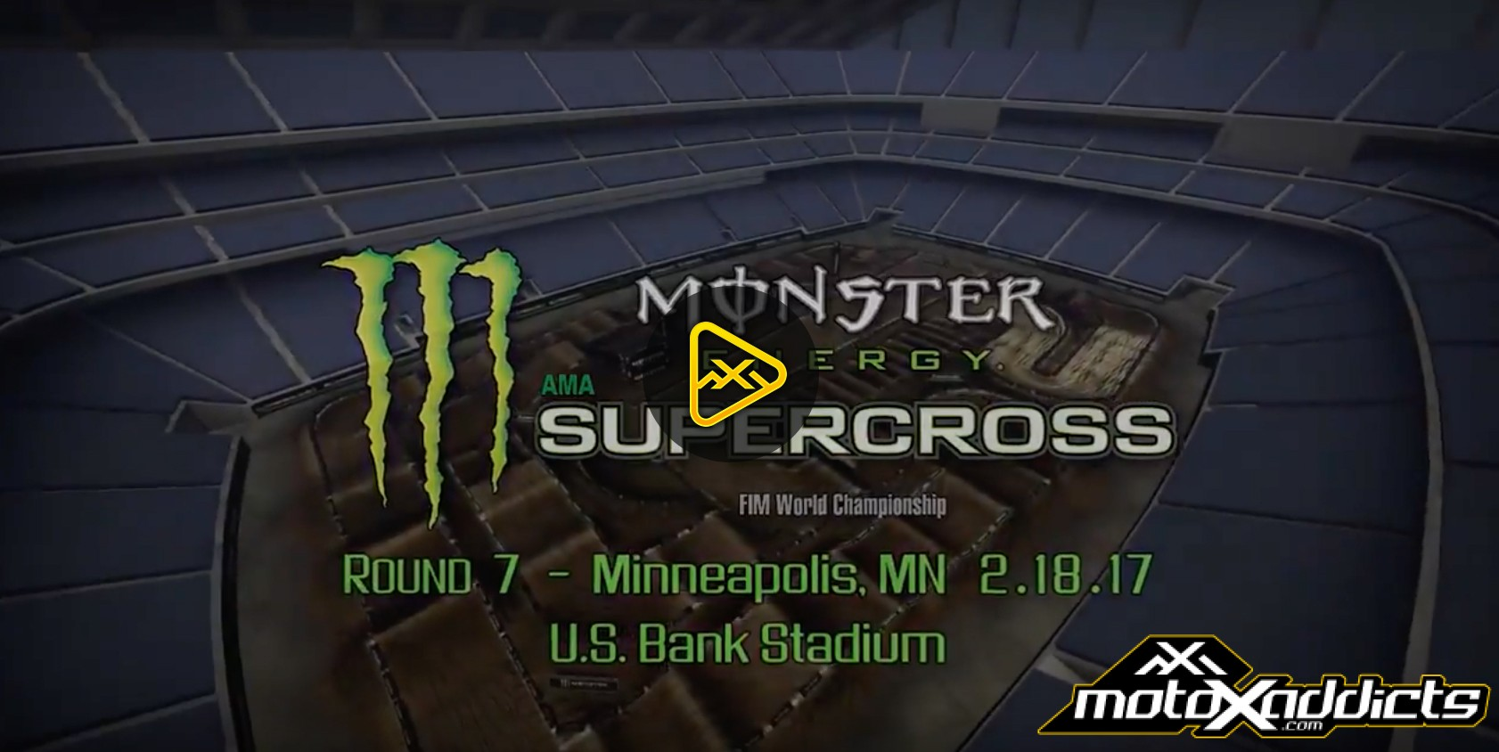 2017 Minneapolis SX Animated Track Map