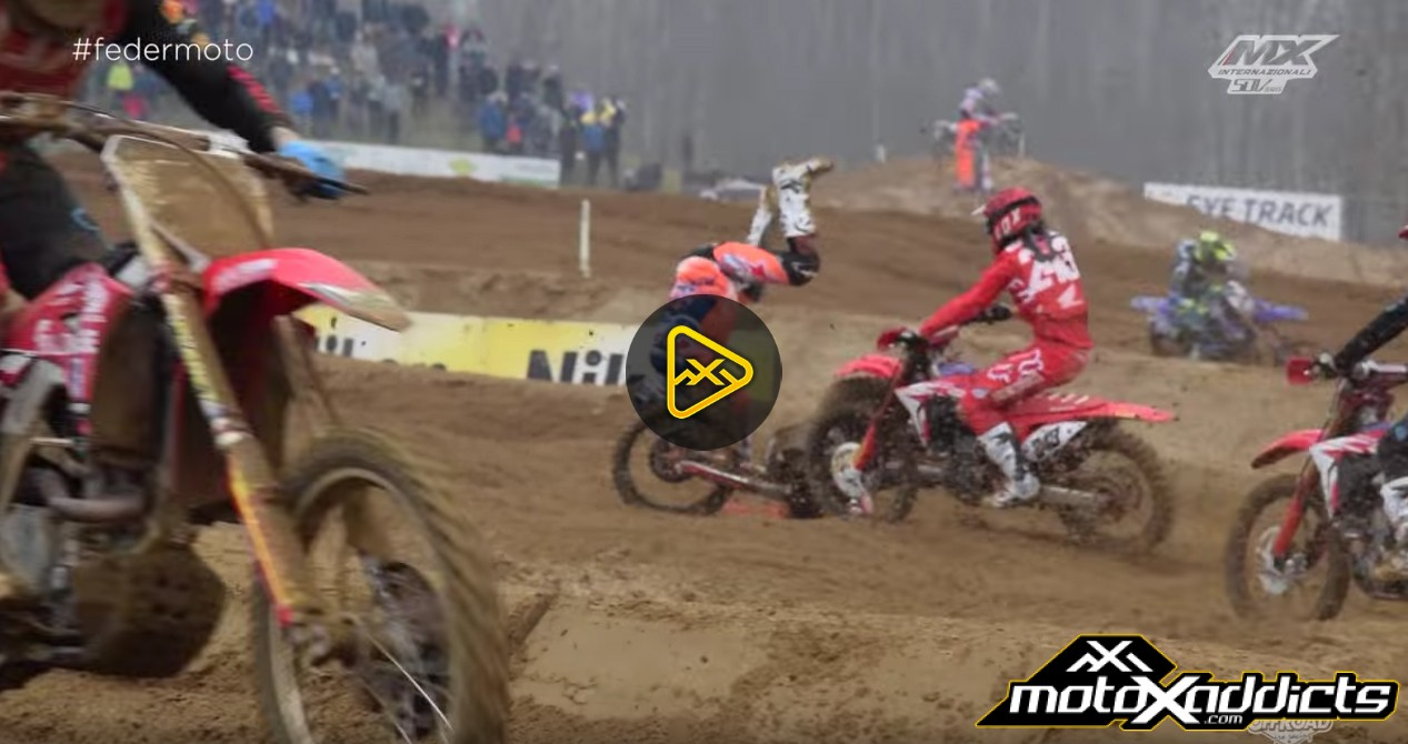 Jeffrey Herlings and Tim Gasjer Crash in Italy