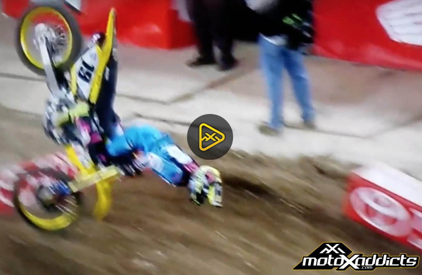 Justin Bogle's Scary Crash – 2017 Minneapolis SX