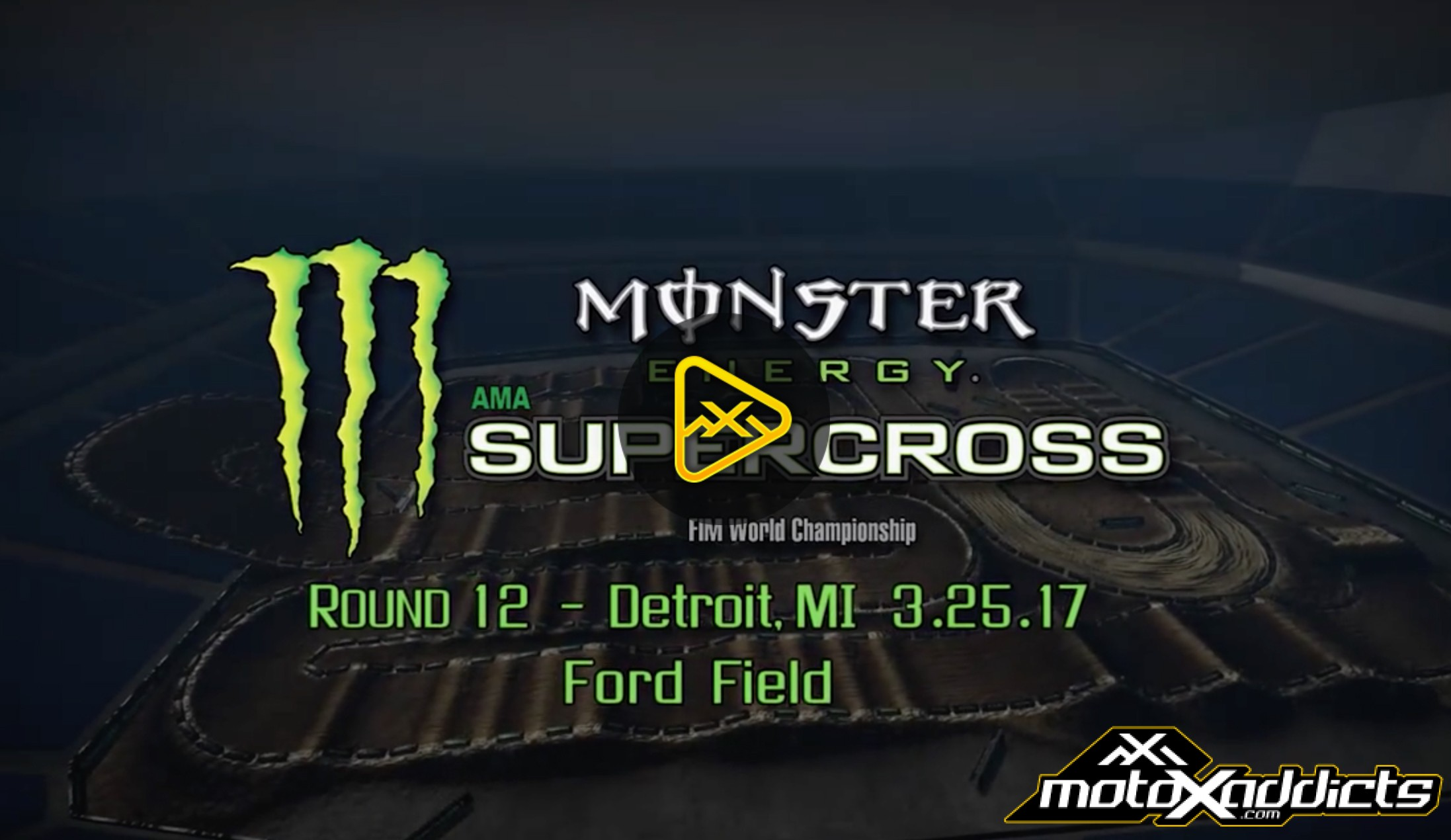 2017 Detroit SX Animated Track Map
