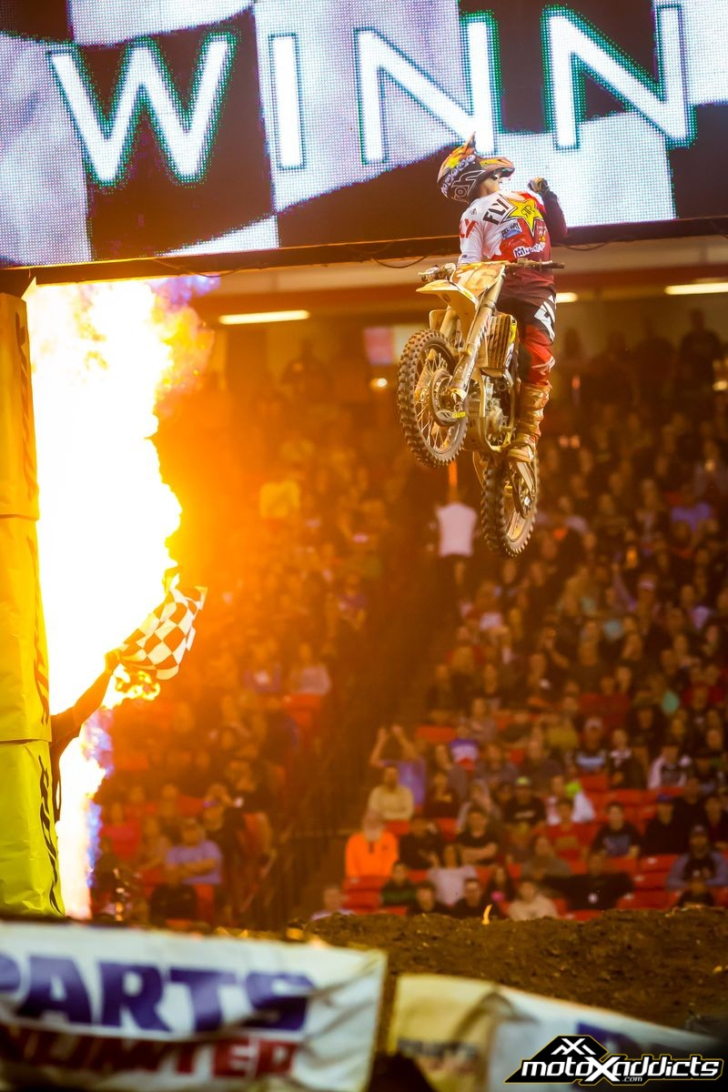 Zach lights the candles for the first time in his career. Photo: Husqvarna