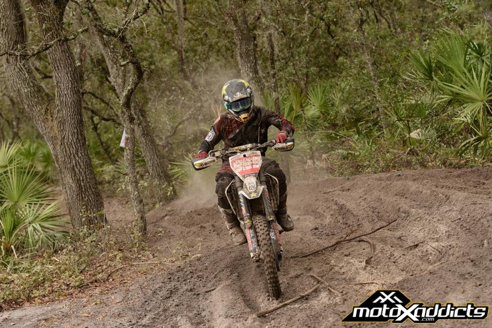 After ending his race early at the season opener, Thad Duvall came back looking for revenge where he finished second at the Moose Racing Wild Boar GNCC. Photo by: Ken Hill
