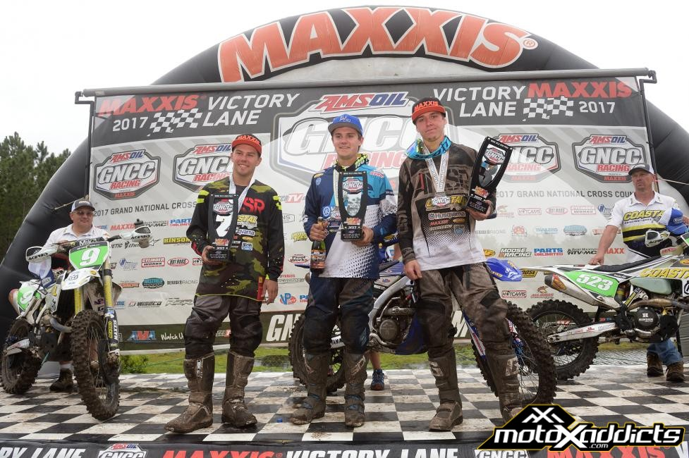 XC2 250 Pro Podium: (2) Craig Delong, (1) Josh Toth, (3) Layne Michael. Photo by: Ken Hill