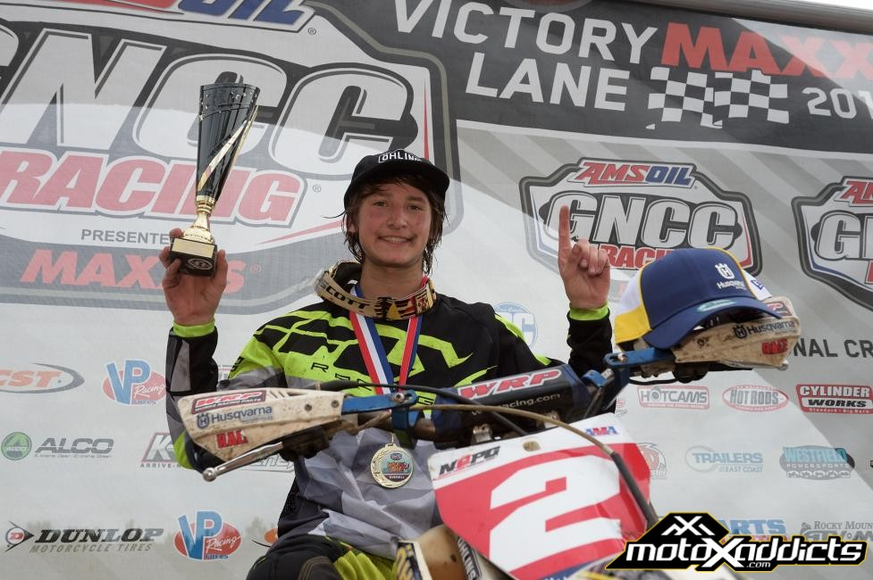 Zack Davidson secured the overall youth win, followed by Ryder Leblond and Michael Beeler Jr. Photo by: Ken Hill