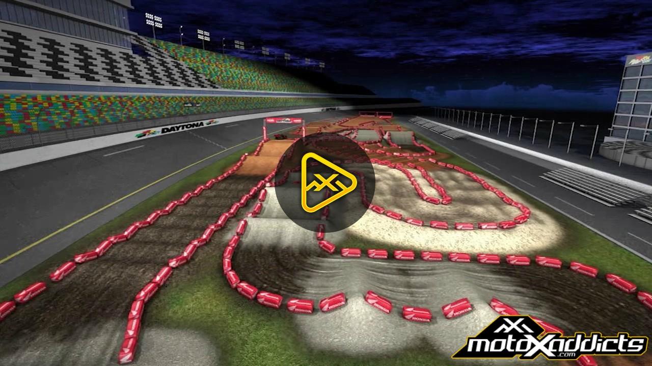 2017 Daytona Supercross Animated Track Map