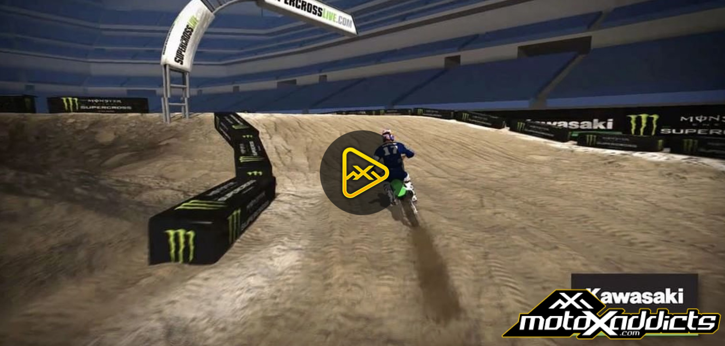 2017 Indianapolis SX Animated Track Map