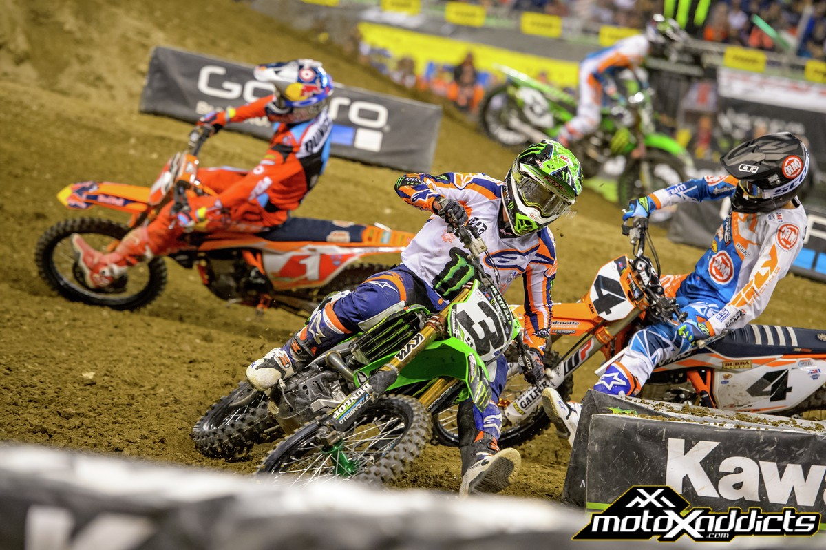 The biggest positive gain in Eli Tomac's game has been his starts. Photo by: Ryne Swanberg