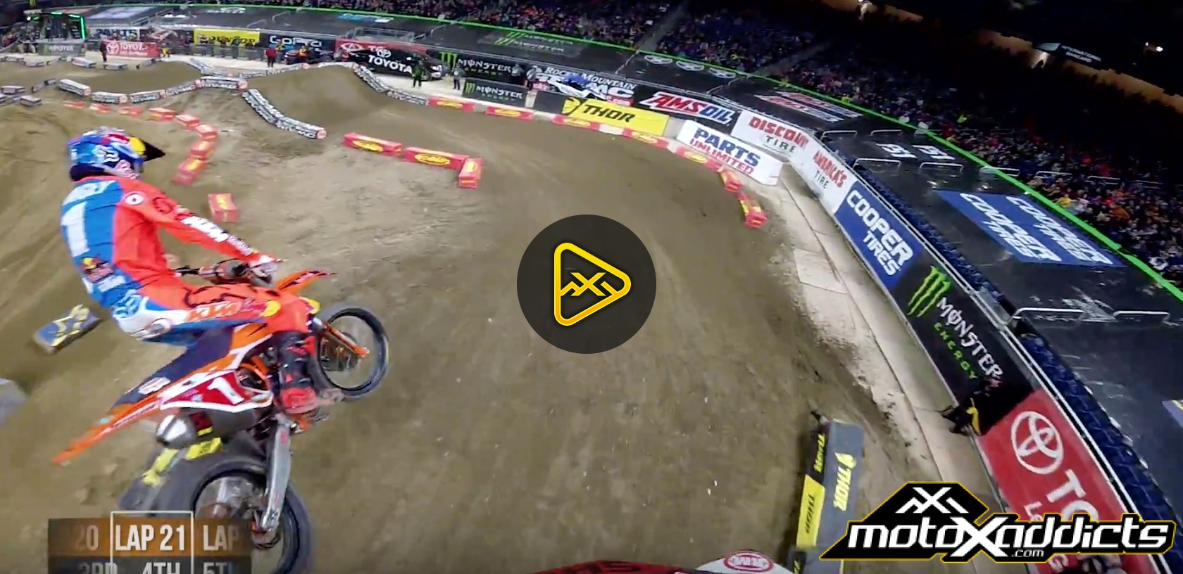 Helmet Cam: Davi Millsaps' Main Event at 2017 Detroit SX