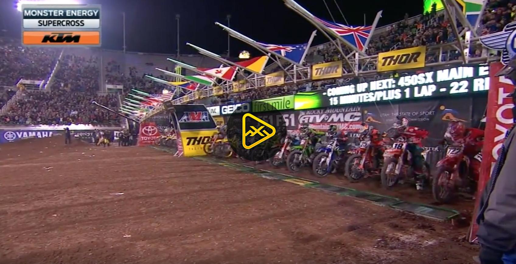 450SX Main Event Highlights – 2017 Salt Lake City SX